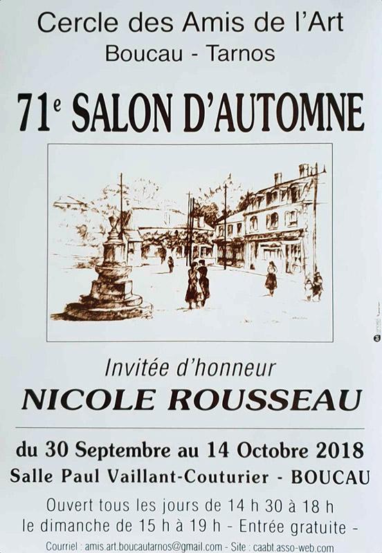 Affiche 71e Salon Automne à Boucau